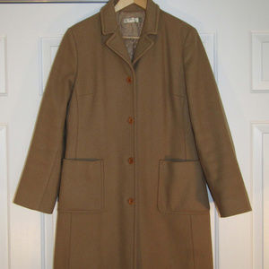 Vintage J CREW Women's Classic Camel Tan Wool Coat